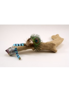 Peacock Feather Wand