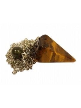 Tigers Eye Crystal Pendulum